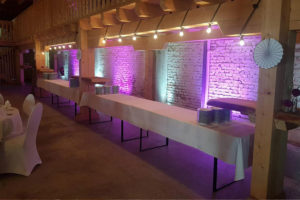 feierfox beleuchtung buffet tisch