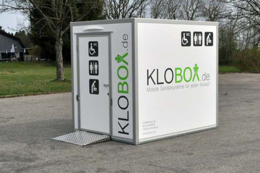feierfox klobox 250 toilettenwagen mieten