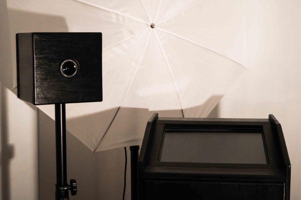 selfiefox fotobox kamera box schirm